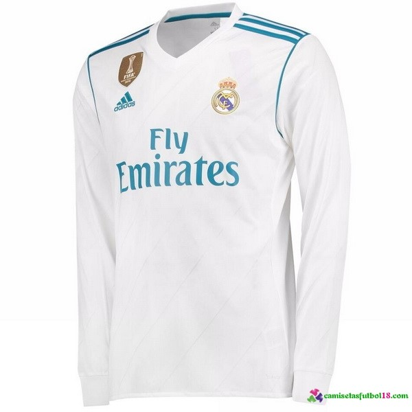 Camiseta 1ª Kit ML Real Madrid 2017 2018