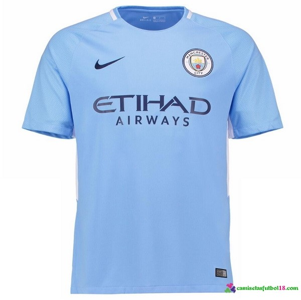 Camiseta 1ª Kit Manchester City 2017 2018