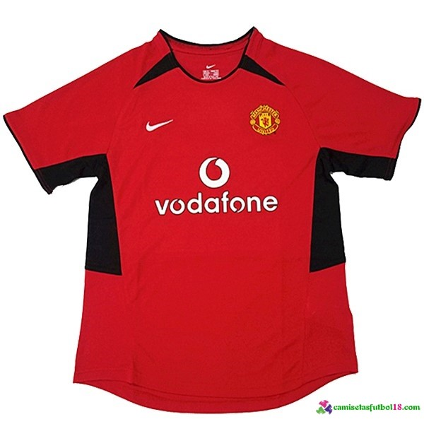 Camiseta 1ª Kit Manchester United Retro 2002 3