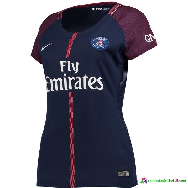 Camiseta 1ª Kit Mujer Paris Saint Germain 2017 2018