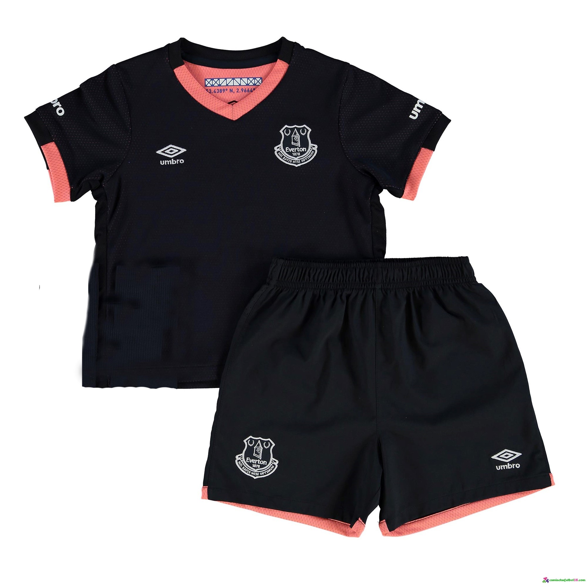 Camiseta 2ª Kit Conjunto Everton Niño 2016 2017