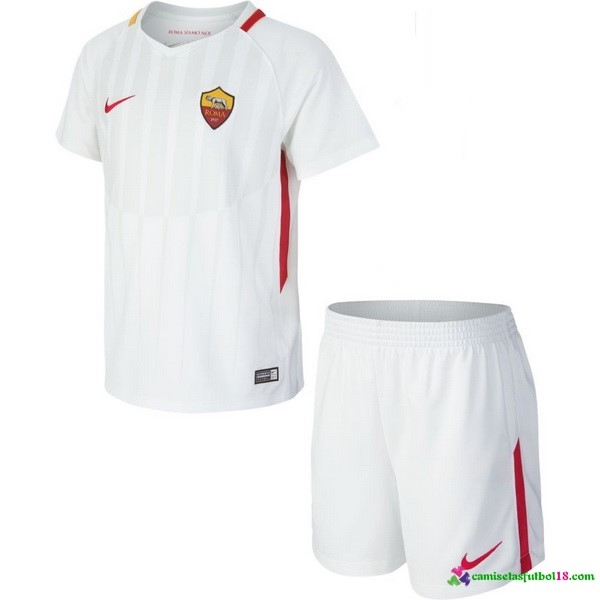 Camiseta 2ª Kit Conjunto Niño AS Roma 2017 2018