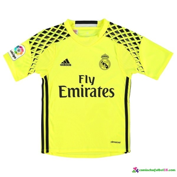 Camiseta 2ª Kit Conjunto Real Madrid Portero Niño 2016 2017