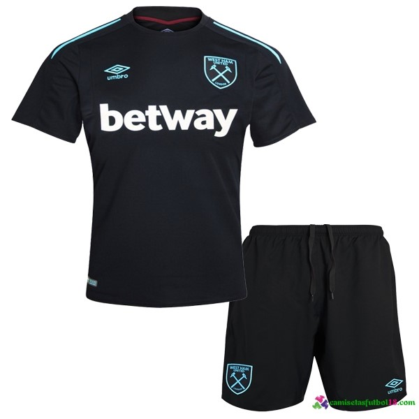Camiseta 2ª Kit Conjunto West Ham Niño 2017 2018