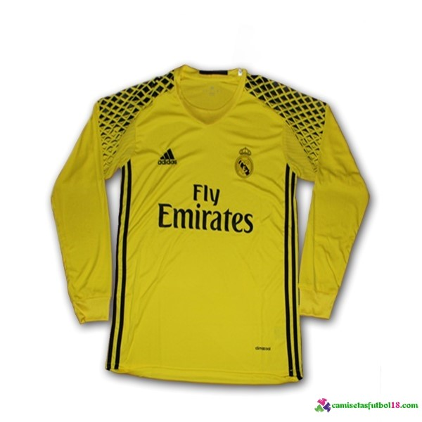Camiseta 2ª Kit ML Real Madrid Portero 2016 2017