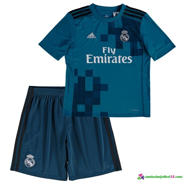 Camiseta 3ª Kit Conjunto Niño Real Madrid 2017 2018