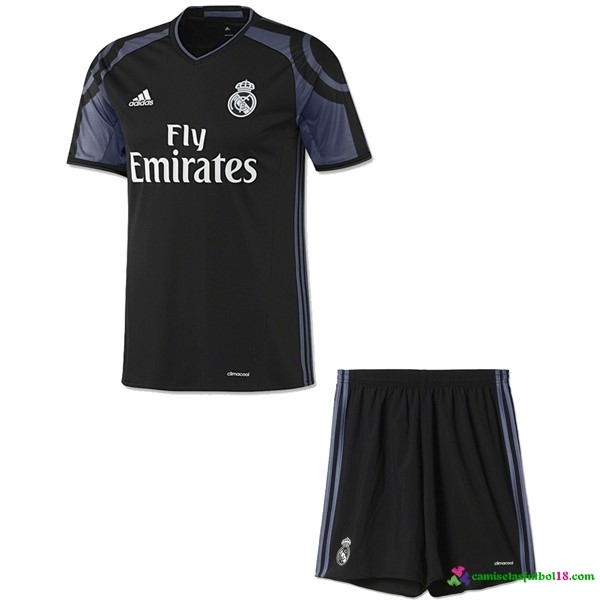 Camiseta 3ª Kit Conjunto Real Madrid Niño 2016 2017