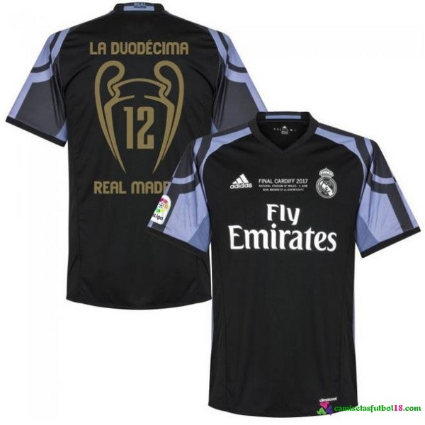 Camiseta 3ª Kit Real Madrid 12 Final Cardiff 2017