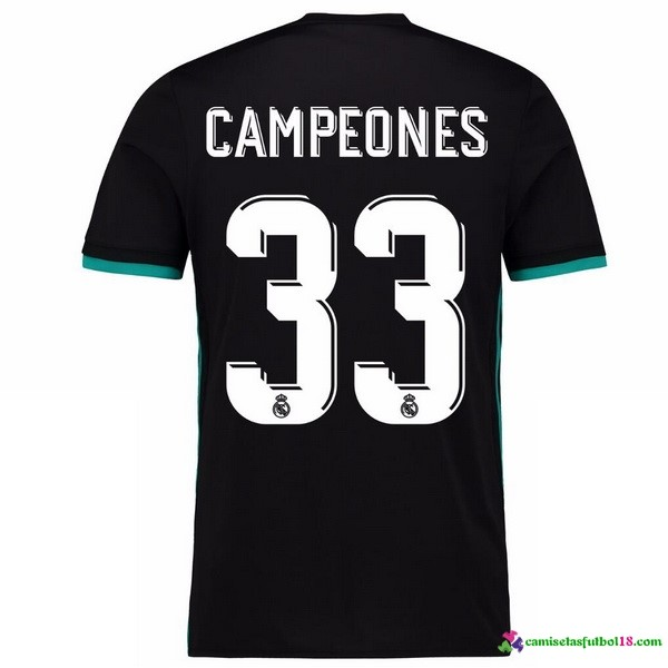 Campeones Camiseta 2ª Kit Real Madrid 2017 2018