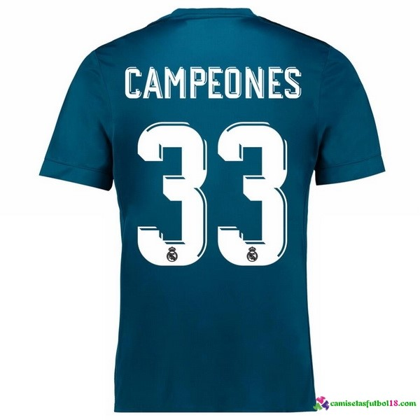 Campeones Camiseta 3ª Kit Real Madrid 2017 2018