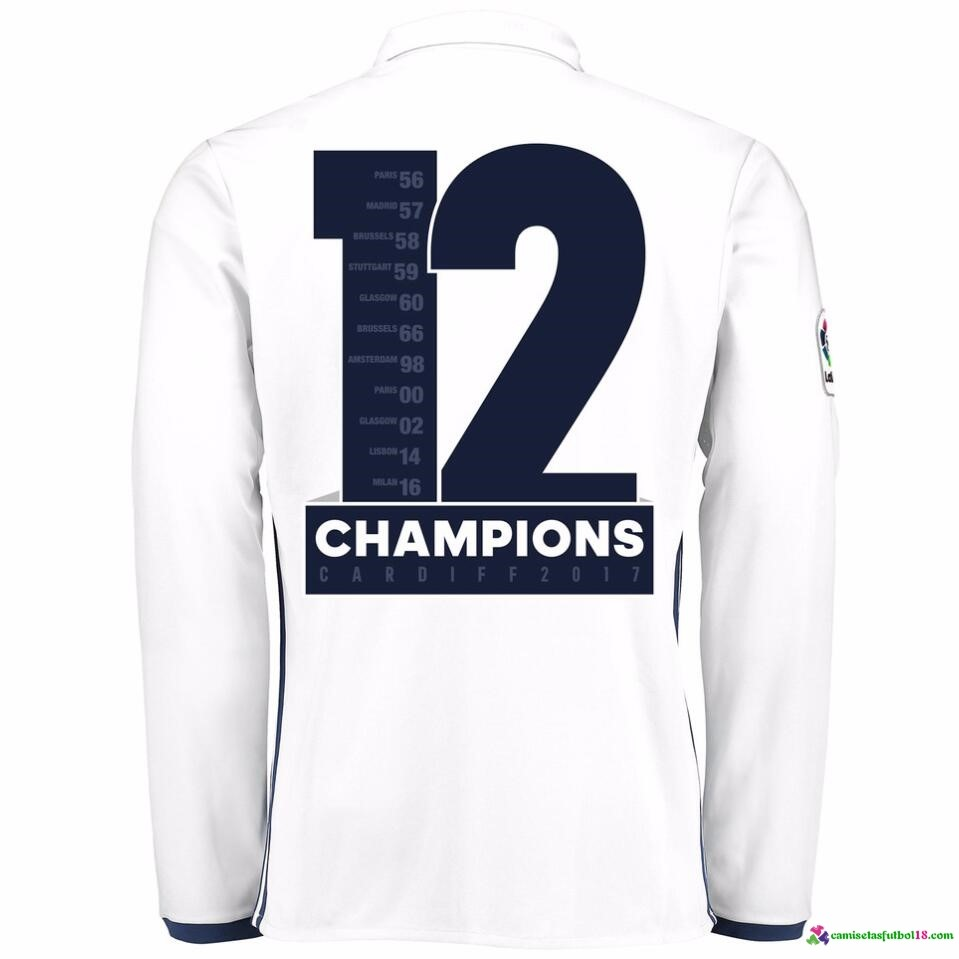 Champions 12 Camiseta 1ª Kit ML Real Madrid 2016 2017