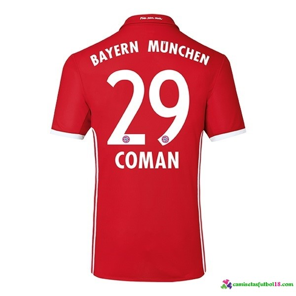 Coman Camiseta 1ª Kit Bayern Munich 2016 2017