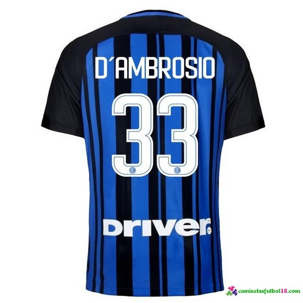 D'Ambrosio Camiseta 1ª Kit Inter Milan 2017 2018