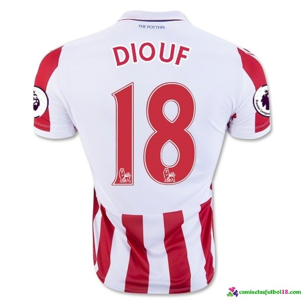 Diouf Camiseta 1ª Kit Stoke City 2016 2017
