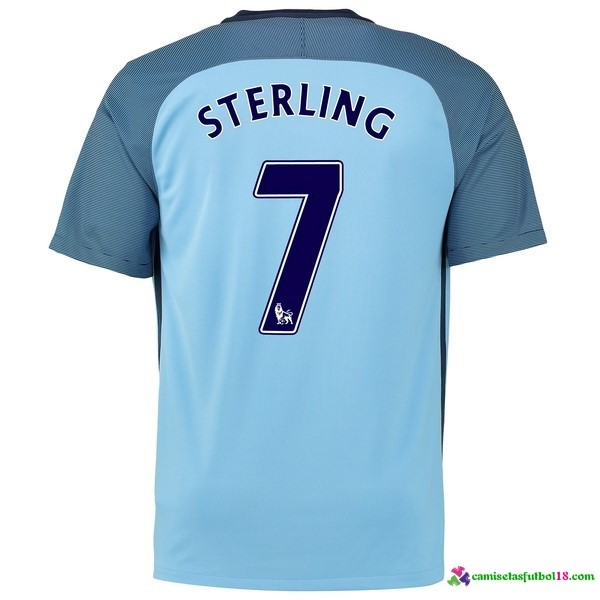 Sterling Camiseta 1ª Kit Manchester City 2016 2017