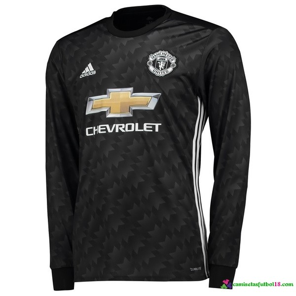 Camiseta 2ª Kit ML Manchester United 2017 2018
