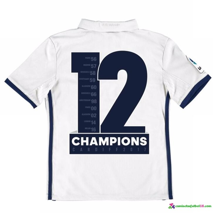 Champions Camiseta 1ª Kit Conjunto Real Madrid Niño 2016 2017