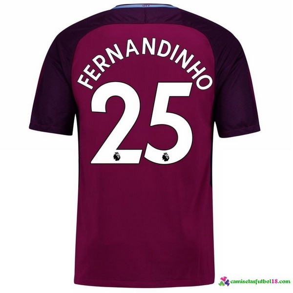 Fernandinho Camiseta 2ª Kit Manchester City 2017 2018