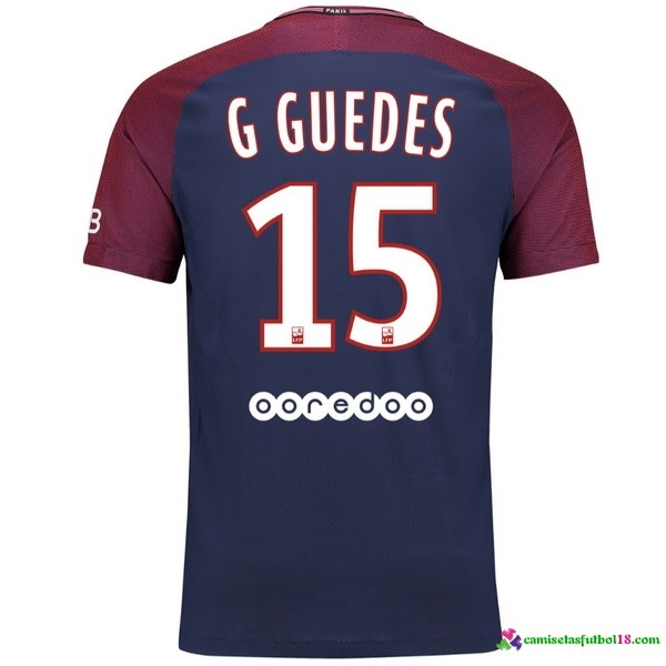 G Guedes Camiseta 1ª Kit Paris Saint Germain 2017 2018