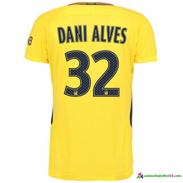 Dani Alves Camiseta 2ª Kit Paris Saint Germain 2017 2018