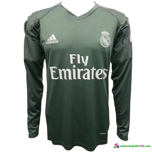 Camiseta 1ª Kit ML Portero Real Madrid 2017 2018