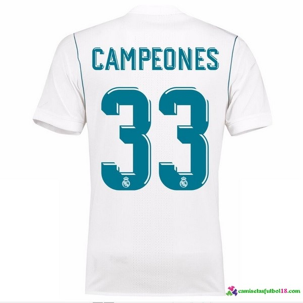 Campeones Camiseta 1ª Kit Real Madrid 2017 2018