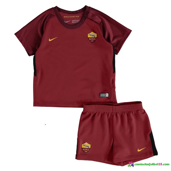 Camiseta 1ª Kit Conjunto AS Roma Niño 2017 2018