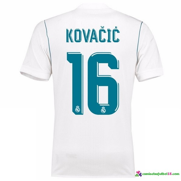 Kovacic Camiseta 1ª Kit Real Madrid 2017 2018