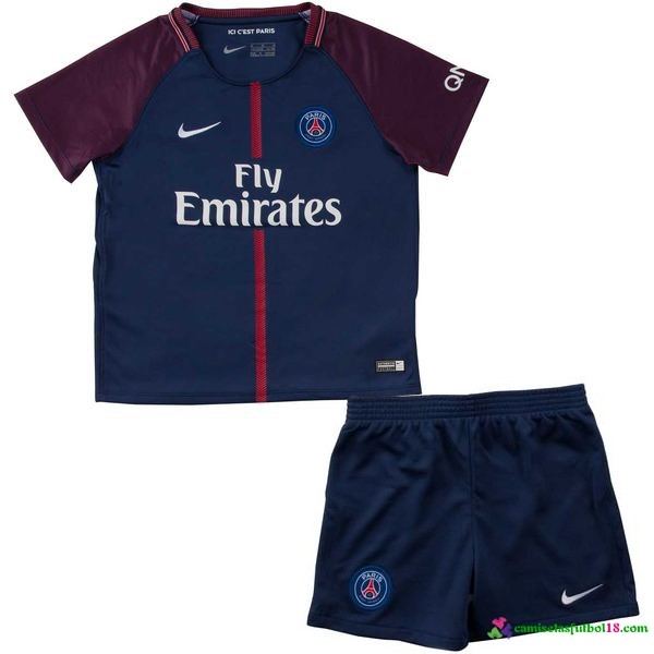 Camiseta 1ª Kit Conjunto Paris Saint Germain Niño 2017 2018