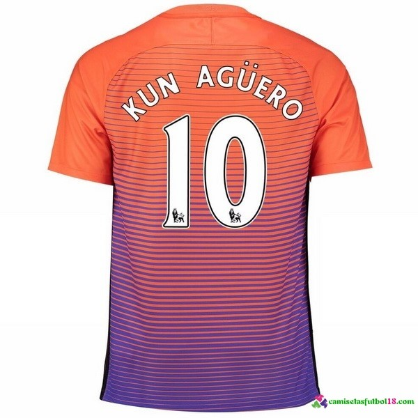 Kun Aguero Camiseta 3ª Kit Manchester City 2016 2017