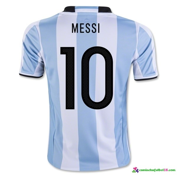 Messi Camiseta 1ª Kit Argentina 2016