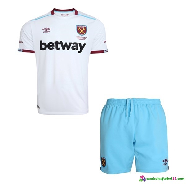 Camiseta 2ª Kit Conjunto West Ham United Niño 2016 2017