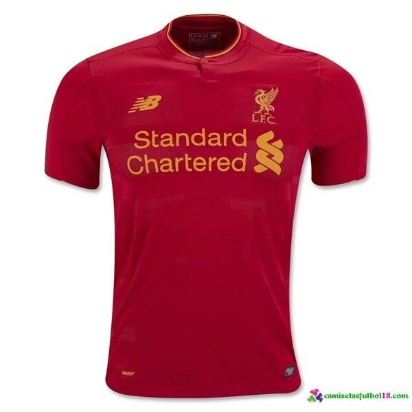 Camiseta 1ª Kit Liverpool 2016 2017