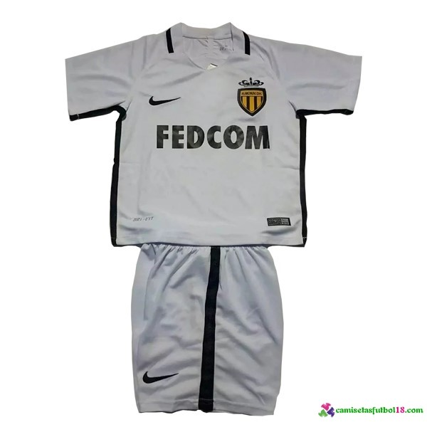 Camiseta 2ª Kit Conjunto AS Monaco Niño 2016 2017