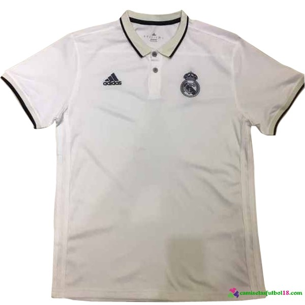Polo Del Real Madrid 2017 2018 Blanco Negro