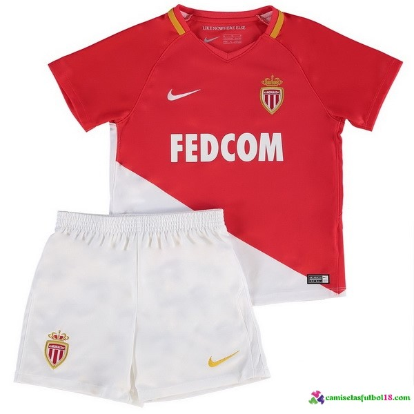 Camiseta 1ª Kit Conjunto Niño AS Monaco Niño 2017 2018