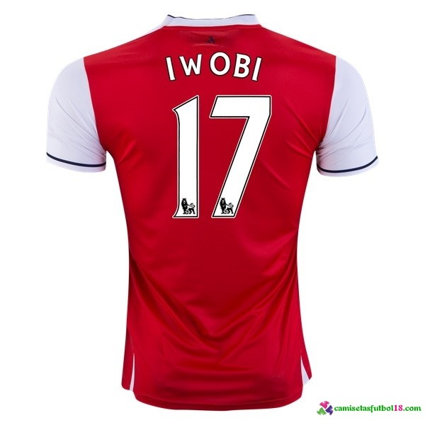 Iwobi Camiseta 1ª Kit Arsenal 2016 2017