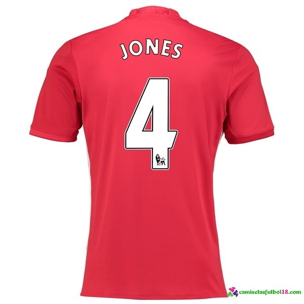 Jones Camiseta 1ª Kit Manchester United 2016 2017