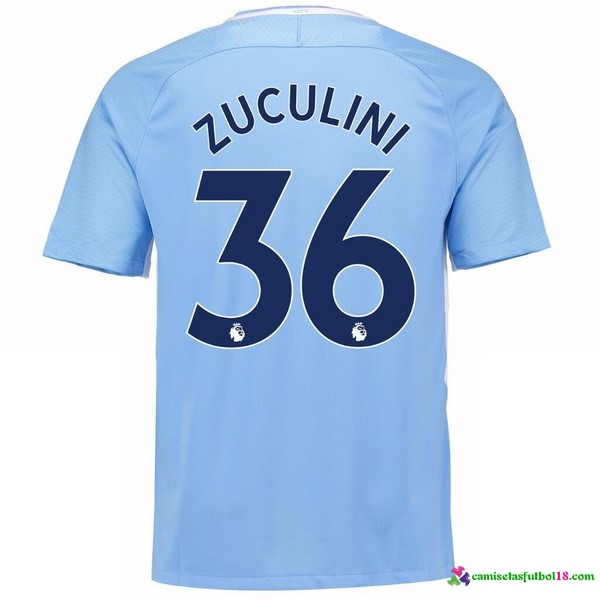 Zuculini Camiseta 1ª Kit Manchester City 2017 2018