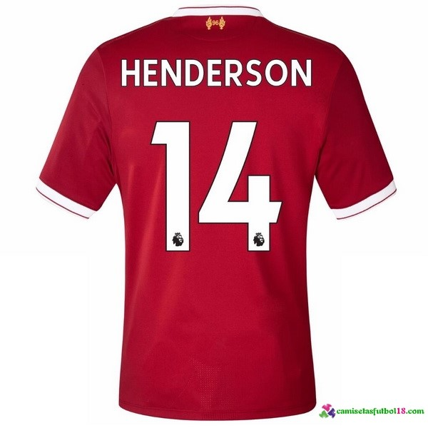 Henderson Camiseta 1ª Kit Liverpool 2017 2018