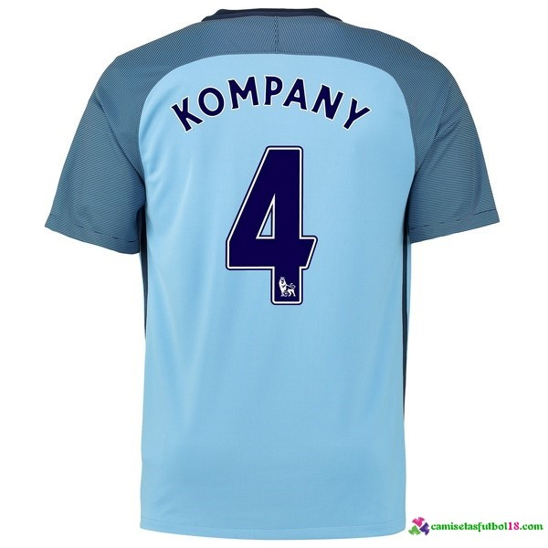 Kompany Camiseta 1ª Kit Manchester City 2016 2017