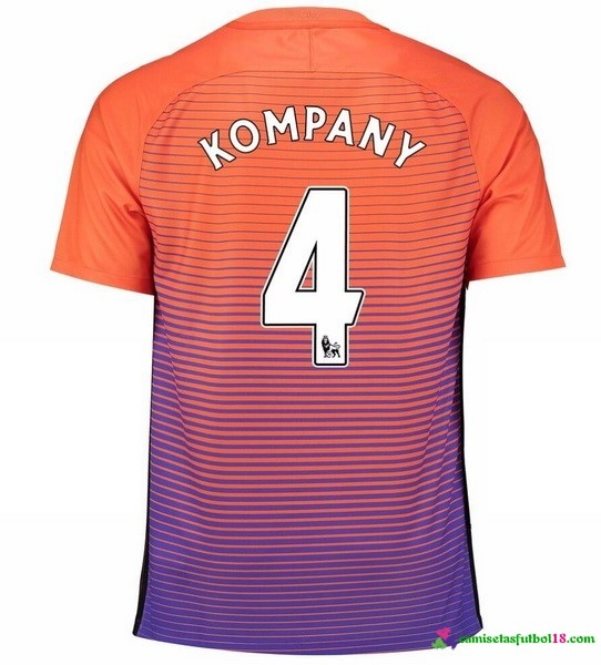 Kompany Camiseta 3ª Kit Manchester City 2016 2017