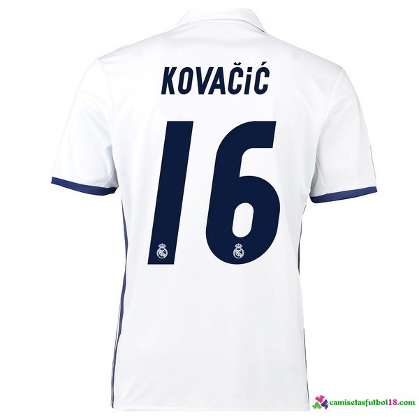 Kovacic Camiseta 1ª Kit Real Madrid 2016 2017