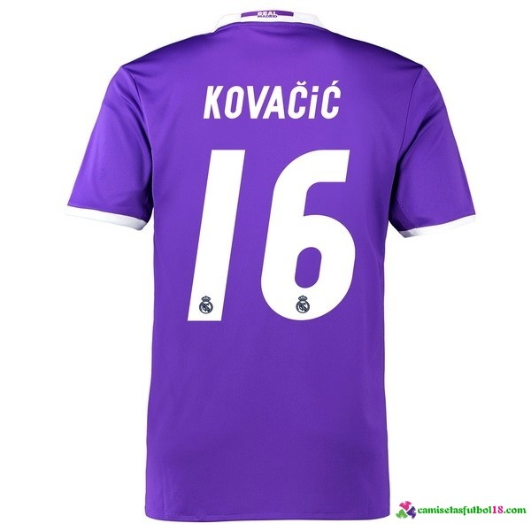 Kovacic Camiseta 2ª Kit Real Madrid 2016 2017