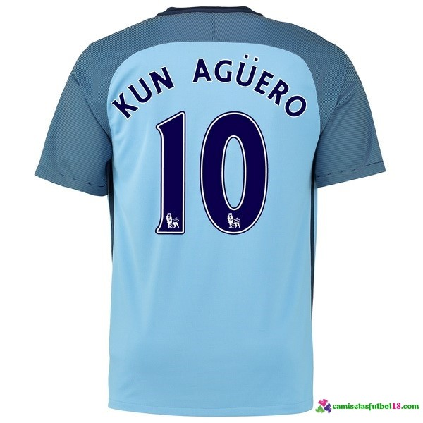 Kun Aguero Camiseta 1ª Kit Manchester City 2016 2017