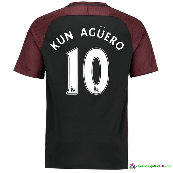 Kun Aguero Camiseta 2ª Kit Manchester City 2016 2017