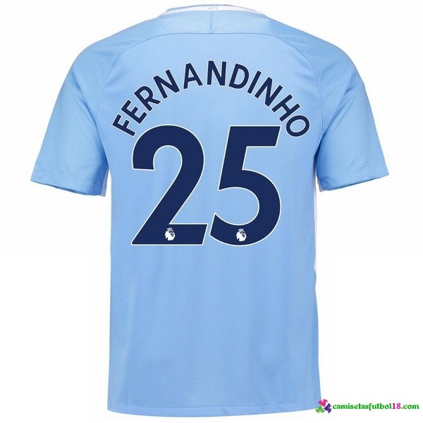 Fernandinho Camiseta 1ª Kit Manchester City 2017 2018