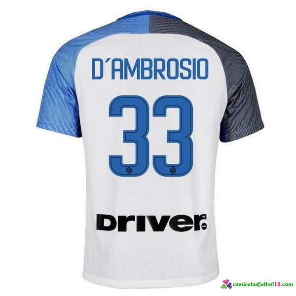 D'Ambrosio Camiseta 2ª Kit Inter Milan 2017 2018