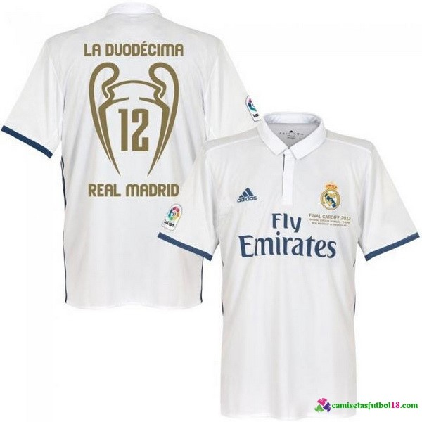 Tailandia Camiseta 1ª Kit Real Madrid 12 Final Cardiff 2017