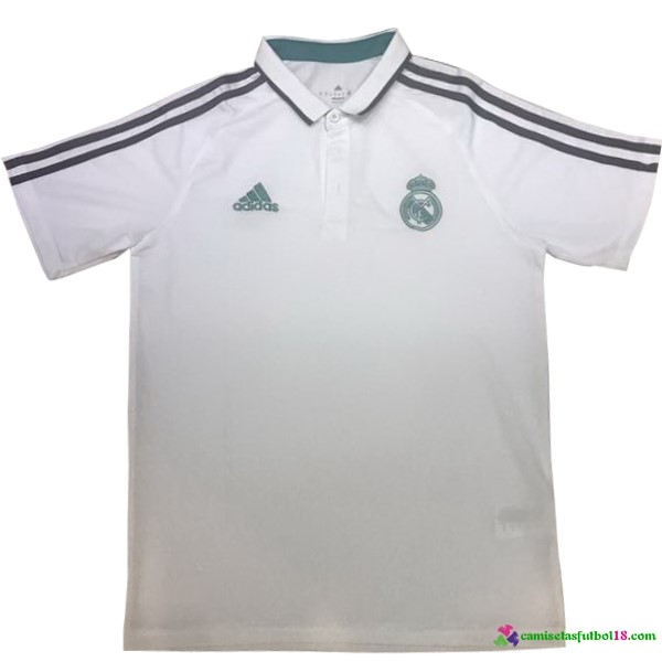 Polo Del Real Madrid 2017 2018 Blanco Verde